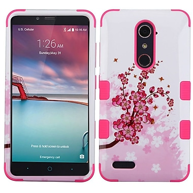 Insten Tuff Spring Flowers Hard Cover Case For ZTE Grand X Max 2/Imperial Max/Kirk/Max Duo 4G/Zmax Pro - Pink