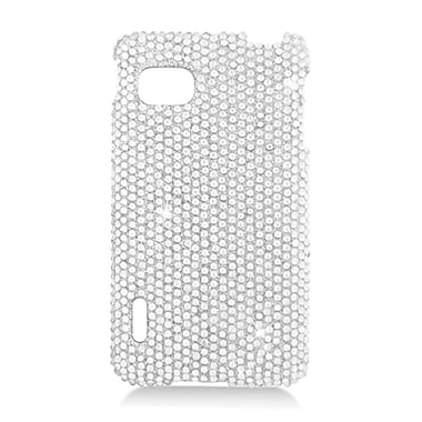 Insten Hard Diamante Case For LG Optimus F3 LS720 - Silver