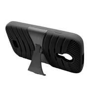 Insten Wave Symbiosis Silicone Hybrid Rubber Hard Case w/stand For BLU Studio 5 - Black