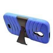 Insten Wave Symbiosis Silicone Hybrid Rubber Hard Cover Case For BLU Studio 5 - Blue/Black