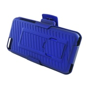 Insten Hard Rubber Cover Stand Case Holster Clip for Apple iPhone 5C - Blue