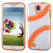 Insten Baseball TPU Cover Case For Samsung Galaxy S4/S4 (LTE version) - Clear/Orange