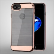 Insten Hard Hybrid TPU Cover Case For Apple iPhone 7 - Clear/Rose Gold