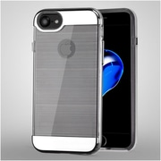 Insten Hard Hybrid TPU Cover Case For Apple iPhone 7 - Clear/Silver