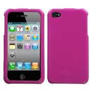 Insten Hard Rubberized Cover Case For Apple iPhone 4/4S - Hot Pink