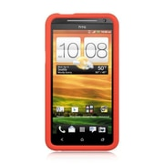 Insten Skin Rubber Cover Case For HTC EVO 4G - Red
