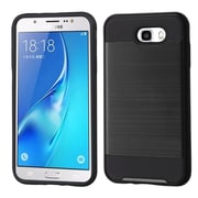 Insten Brushed Hybrid Dual Layer Hard TPU Protective Case For Samsung Galaxy J7 (2017) / Sky Pro - Black