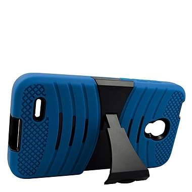 Insten Wave Symbiosis Rubber Dual Layer Hard Case For Alcatel One Touch Conquest - Blue/Black