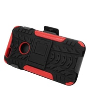 Insten Stand Dual Layer Hybrid Case with Holster for iPhone 6 / 6s - Black/Red