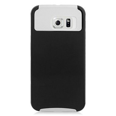 Insten Hard Dual Layer Rubber Coated Silicone Case For Samsung Galaxy S6 - Black/White