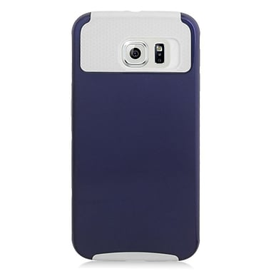 Insten Hard Dual Layer Silicone Cover Case For Samsung Galaxy S6 - Blue/White