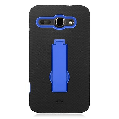Insten Symbiosis Gel Dual Layer Rubber Hard Case For Alcatel One Touch Sonic - Black/Blue