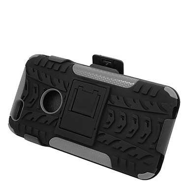Insten Hard Hybrid Plastic Silicone Stand Case with Holster for iPhone 6 / 6s - Black/Gray