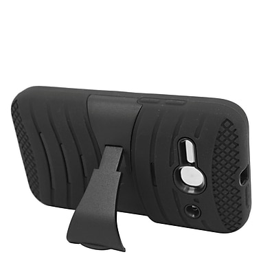 Insten Wave Symbiosis Soft Hybrid Rubber Hard Case For Alcatel One Touch Evolve 2 - Black