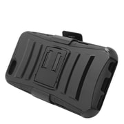 Insten Hard Hybrid Plastic Silicone Stand Case with Holster for iPhone 6 / 6s - Black