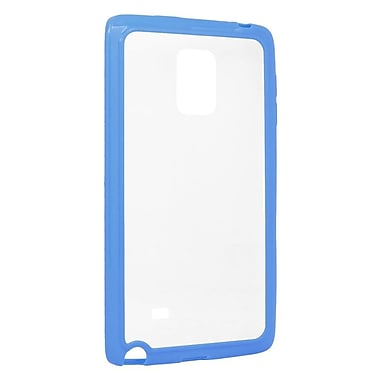 Insten TPU Rubber Gel SKin Case For Samsung Galaxy Note Edge - Clear/Blue