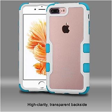 Insten Natural Frame Transparent PC Back TUFF Vivid Hybrid Case Cover For Apple iPhone 7 Plus - Ivory White/Teal