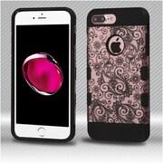 Insten Four-leaf Clover Hard TPU Cover Case For Apple iPhone 7 Plus - Rose Gold/Black