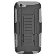 Insten Car Armor Stand Dual Layer Hybrid Case with Holster for iPhone 6 / 6s - Black/Gray