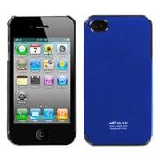 Insten Cosmo Aluminum Metallic Hard Cover Case For Apple iPhone 4/4S - Blue