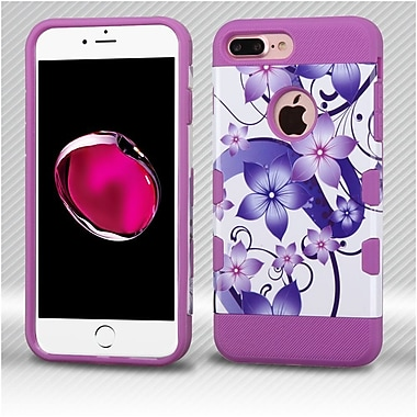 Insten Hibiscus Flower Romance Hard TPU Case For Apple iPhone 7 Plus - Purple/White
