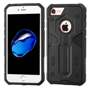 Insten Hard Hybrid Rubber Coated Silicone Cover Case For Apple iPhone 7 - Black