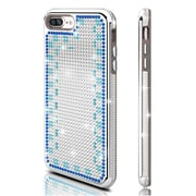 Insten Hard Hybrid Diamante TPU Cover Case For Apple iPhone 7 Plus - Silver/Blue