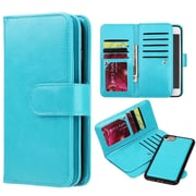 Insten Timberland Double Flop Leather Wallet Case with Magnetic Phone Holder For Apple iPhone 7 - Teal