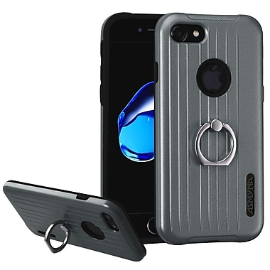 Insten Hard Dual Layer Silicone Case w/Ring stand For Apple iPhone 7 - Blue/Black