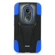 Insten Hard Dual Layer Plastic Hybrid Case For Motorola Moto X (2nd Gen) - Blue