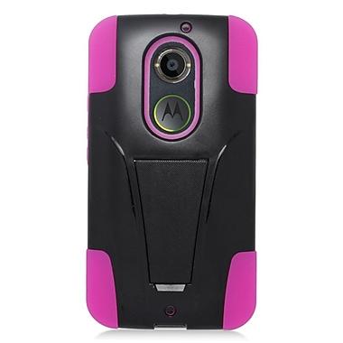 Insten Hard Dual Layer Plastic Hybrid Case For Motorola Moto X (2nd Gen) - Pink