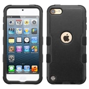 Insten Tuff Hard Dual Layer Rubberized Silicone Case For Apple iPod Touch 5th Gen/6th Gen, Black (2166515)