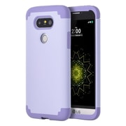 Insten Hybrid Hard PC/Silicone Dual Layer Case Skin For LG G5 - Lavender