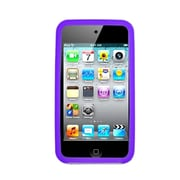 Insten Silicone Rubber Case For Apple iPod Touch 4th Gen - Purple