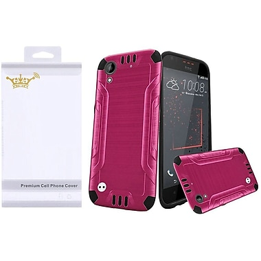 Insten Hard Hybrid TPU Case with Screen Protector For HTC Desire 530 - Hot Pink/Black