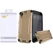Insten Hard Dual Layer TPU Cover Case with Screen Protector For HTC Desire 530 - Gold/Black