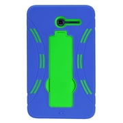 Insten Gel Hybrid Rubber Hard Cover Case w/stand For Alcatel One Touch Pixi 7 - Blue/Green