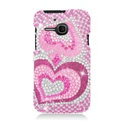 Insten Hearts Hard Diamond Cover Case For Alcatel One Touch Evolve - Hot Pink