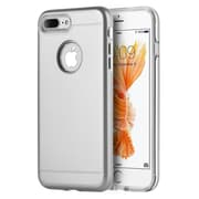 Insten Comfort Hybrid Hard PC/TPU Dual Layer Case For Apple iPhone 7 Plus - Silver/Clear
