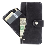 Insten Book-Style Leather Furry Case Pocket wallet w/stand/card holder For Apple iPhone 6 - Black