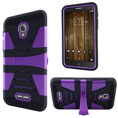 Insten Hard Dual Layer Rubber Silicone Cover Case w/stand For Alcatel One Touch Fierce 4 / Pop 4 Plus - Purple/Black