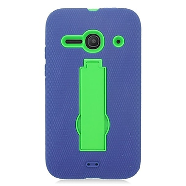 Insten Silicone Dual Layer Rubber Hard Case For Alcatel One Touch Evolve 2 - Blue/Green