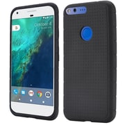 Insten For Google Pixel XL Rugged Silicone Soft Skin Gel Back Protective Case - Black