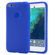 Insten For Google Pixel XL Rugged Silicone Soft Skin Gel Back Protective Case - Blue