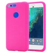Insten For Google Pixel XL Rugged Silicone Soft Skin Gel Back Protective Case - Hot Pink