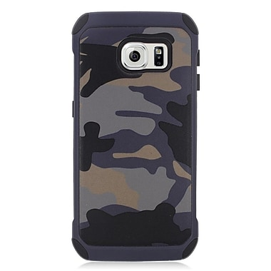 Insten Camouflage Hard Dual Layer Hybrid Case For Samsung Galaxy S6 Edge - Gray