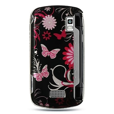 Insten Hard Crystal Skin Back Protective Shell Cover Case For LG Genesis - Pink Butterfly