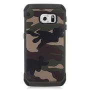 Insten Camouflage Hard Hybrid Dual Layer Case For Samsung Galaxy S6 Edge - Green