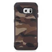 Insten Camouflage Hard Hybrid Dual Layer Case For Samsung Galaxy S6 Edge - Brown