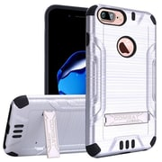"""Insten For Apple iPhone 7 6 6s Plus 5.5"""" Hybrid Slim Armor PC TPU Metal Stand Case - Silver/Black"""